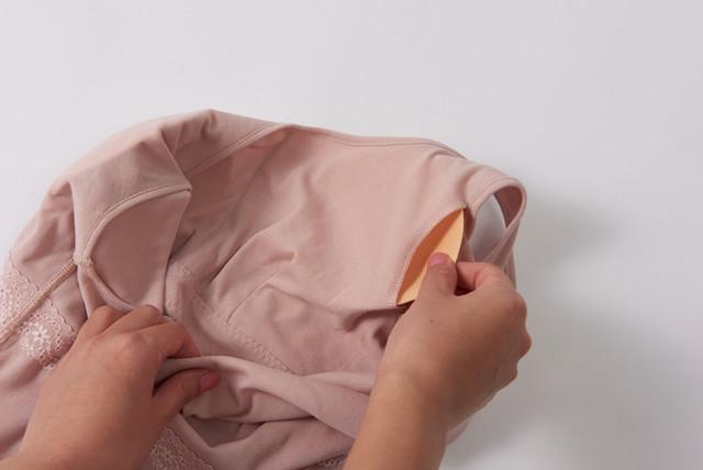 乳がん下着の裏側の画像