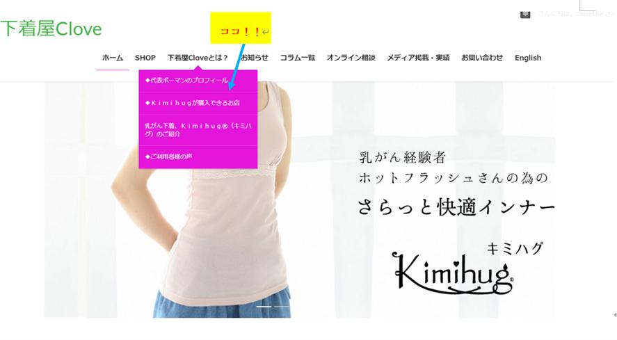 ホームページのスクリーンショット画像